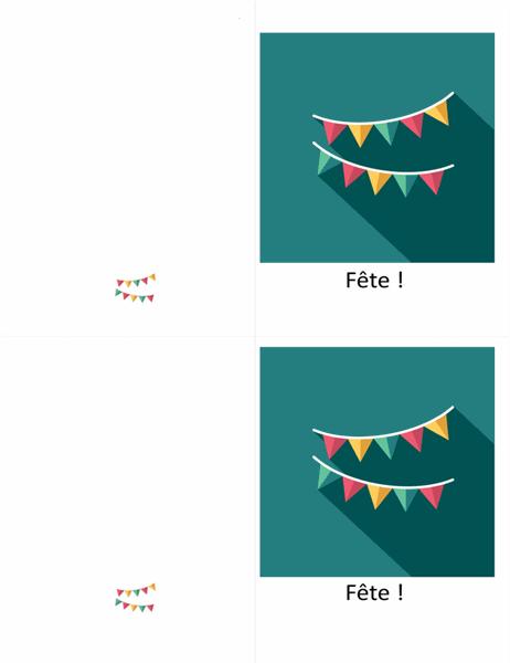 Carte de vœux Fanions