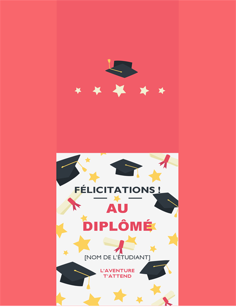 Carte de félicitations à un(e) jeune diplômé(e)