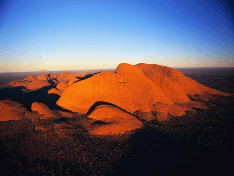 Thème désert - Canyon vu du ciel