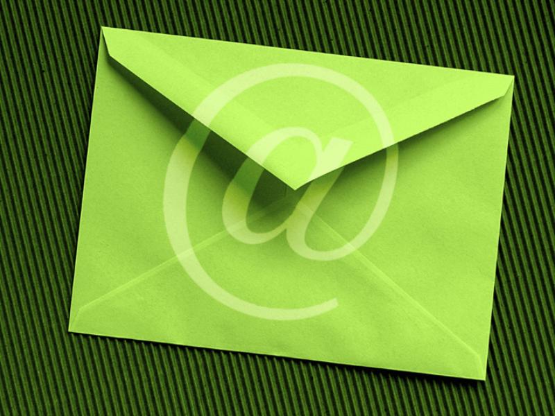 Thème design - Internet enveloppe verte