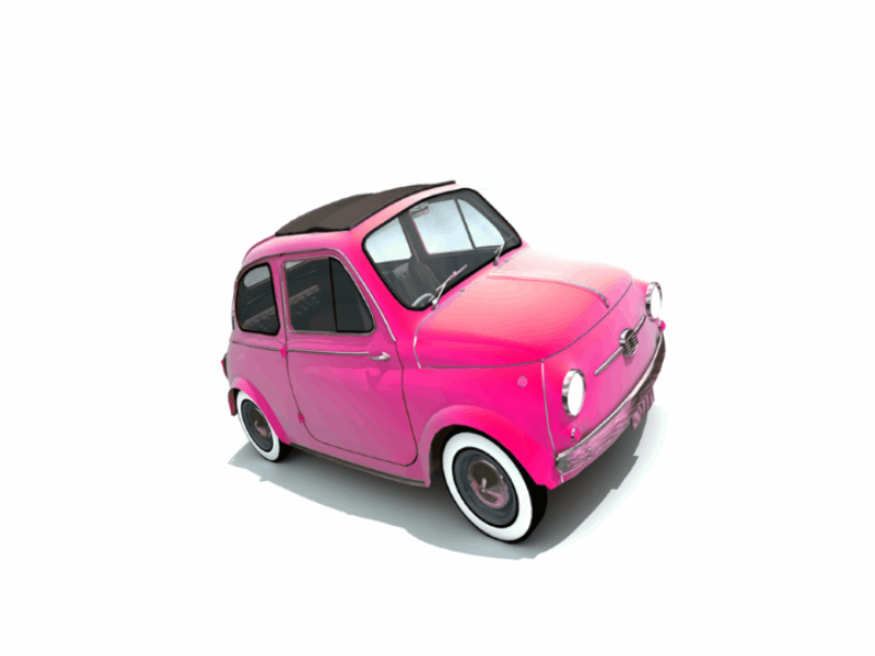Thème design - Voiture rose