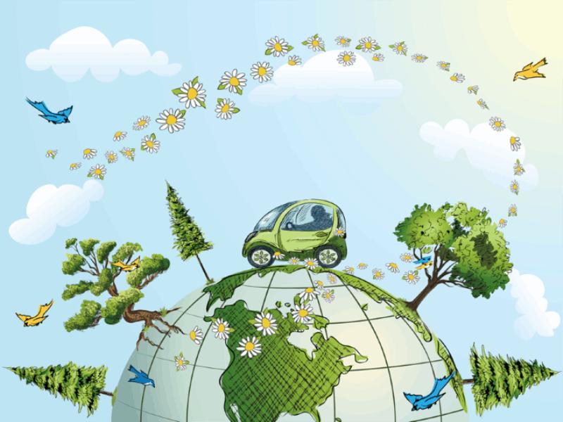 Thème écologie - Concept voiture propre