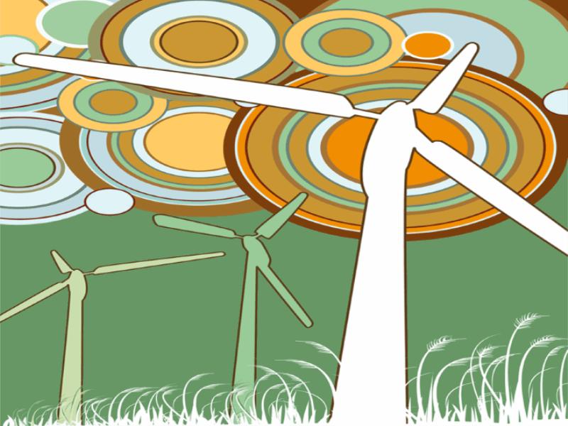 Thème écologie - Concept éolienne