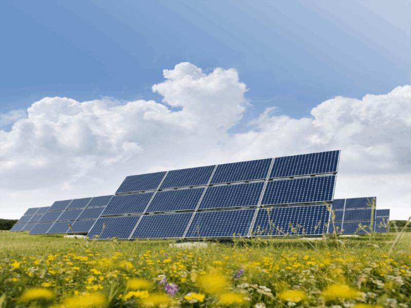 Thème écologie - Panneaux solaires