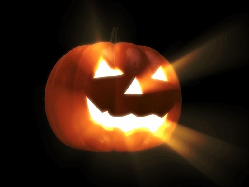 Thème halloween - Citrouille dans la nuit