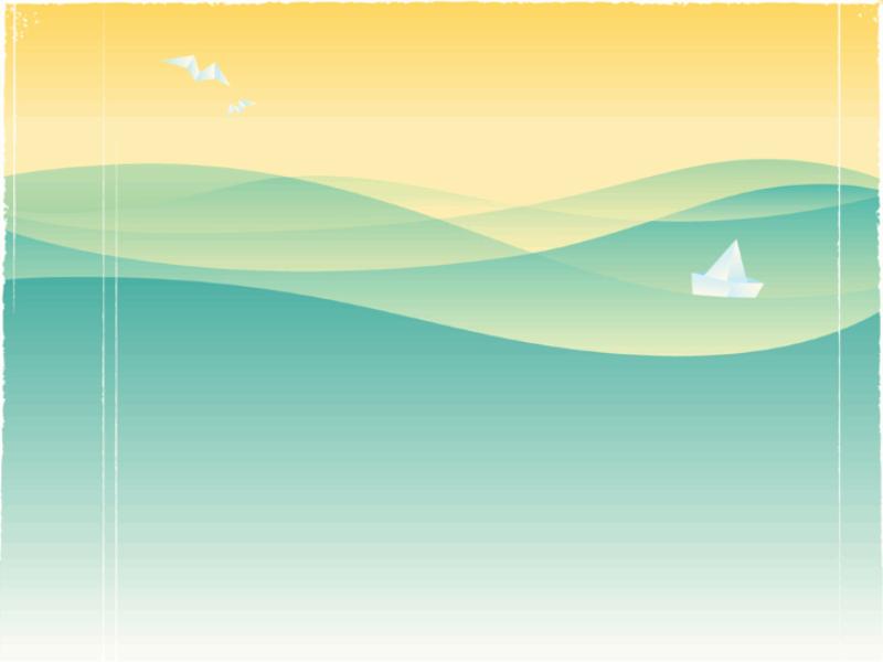 Thème mer - Concept pliages en papier