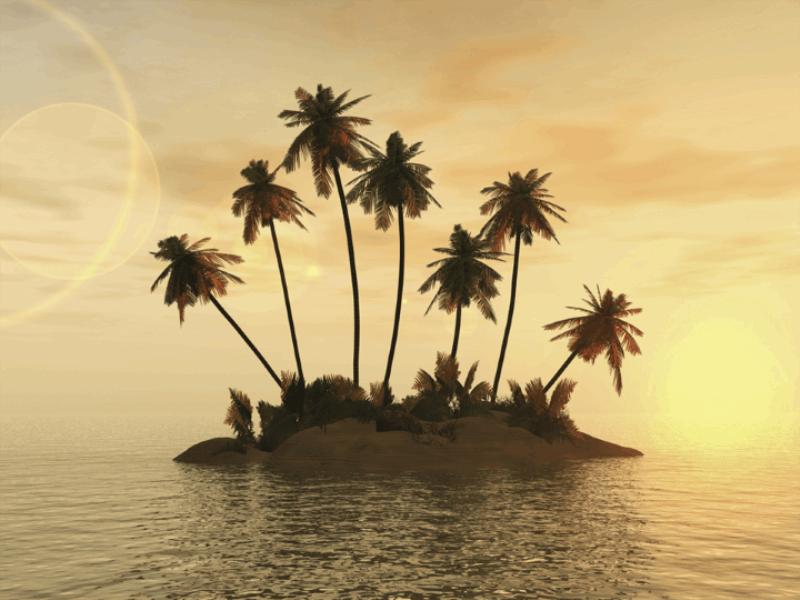 Thème mer - Ile déserte