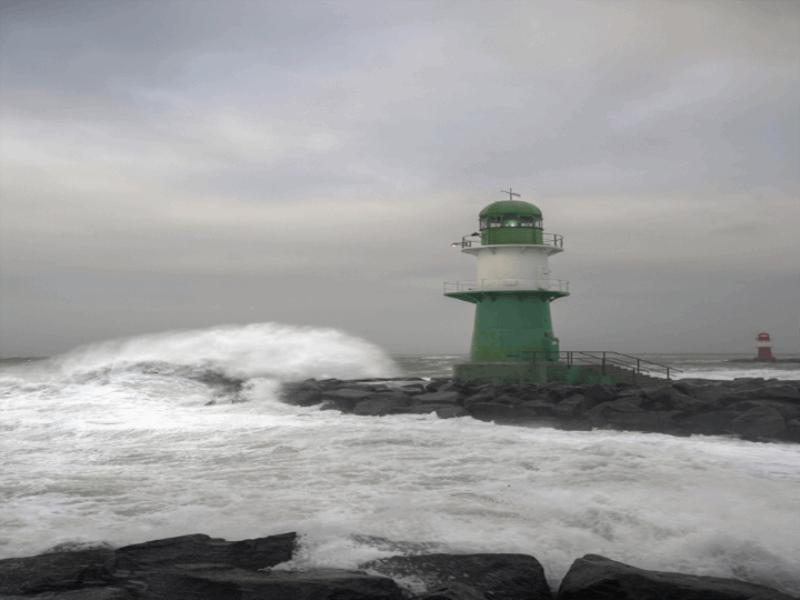 Thème mer - Phare vert
