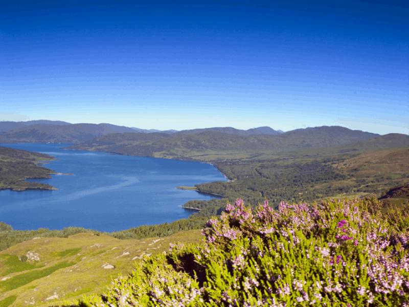 Thème montagne - Lac bleu