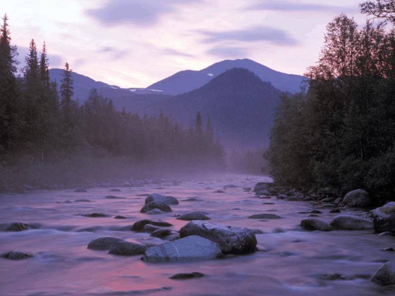 Thème montagne - Rivière