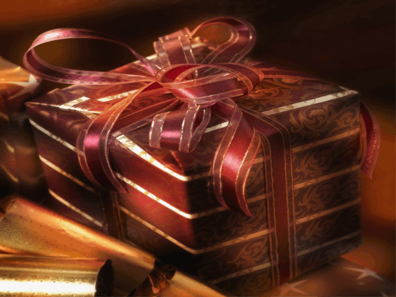 Thème noel - Cadeaux couleur cerise