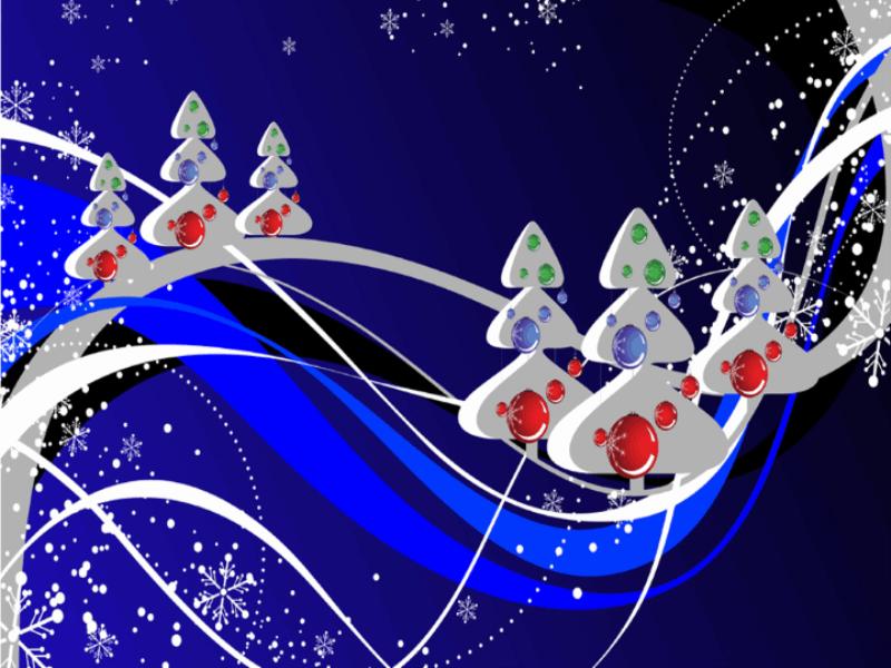 Thème noel - Concept neige bleutée