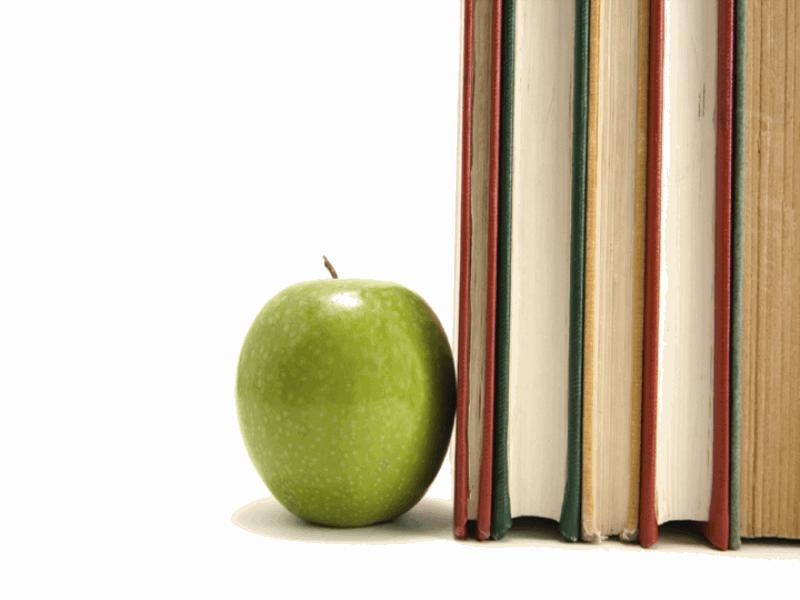 Thème scolaire - Cahiers avec pomme