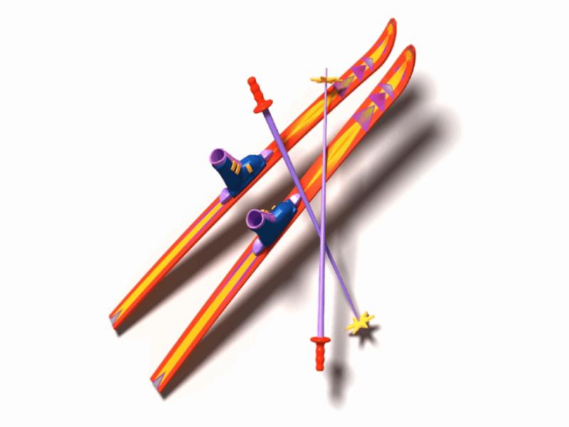 Thème ski - Paire de skis