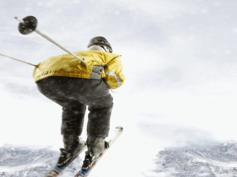 Thème ski - Saut dans le vide