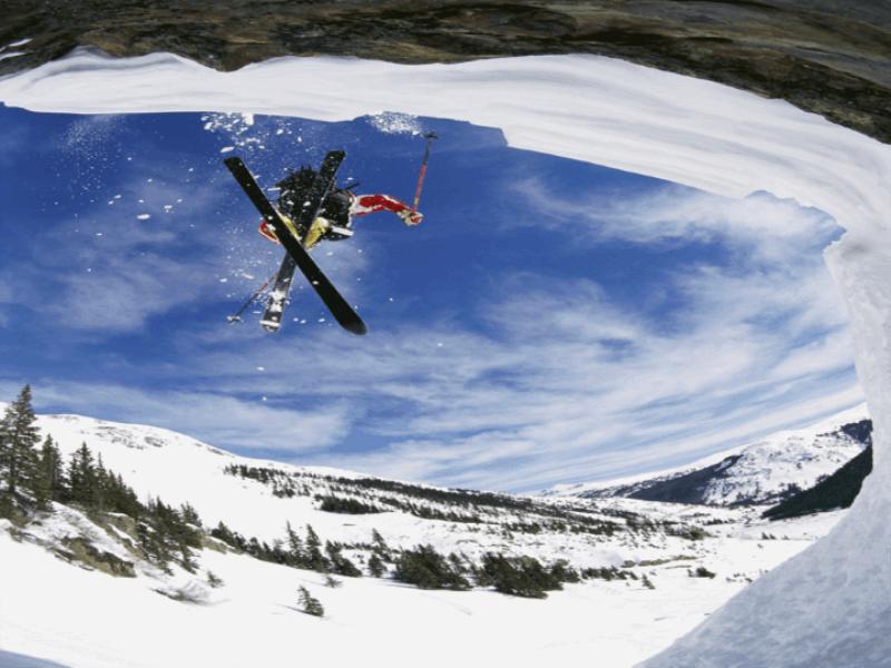 Thème ski - Saut sur grotte