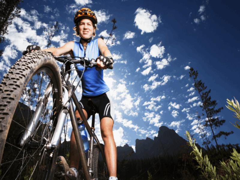 Thème vélo - VTT gros plan