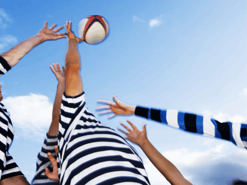 Thème rugby - Attraper le ballon