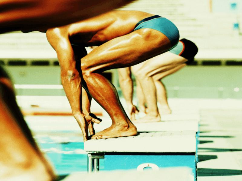 Thème natation - Ligne de départ