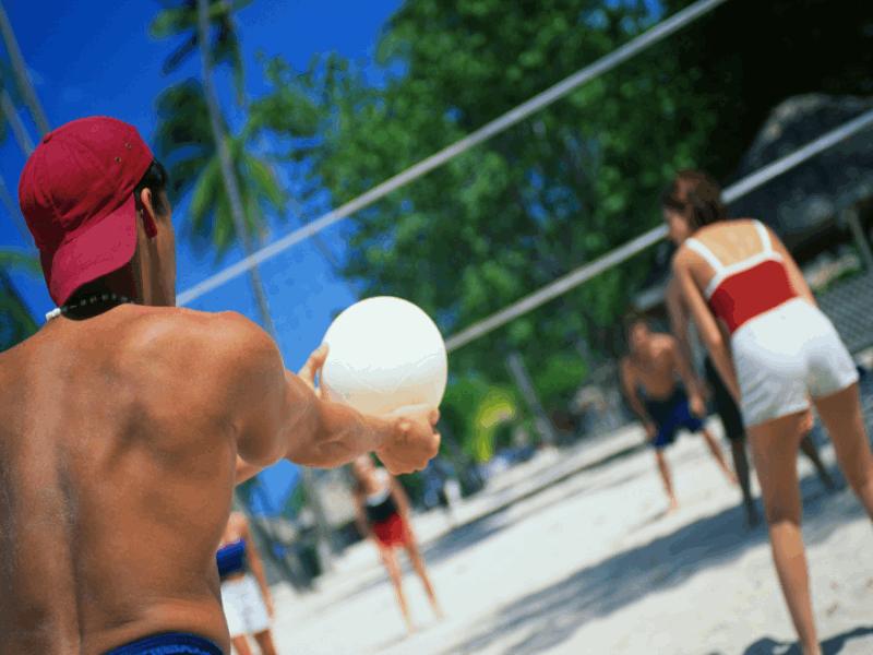 Thème volley - Service