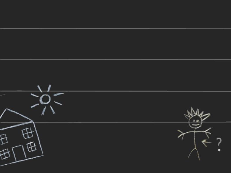 Thème scolaire - Dessiner sur le tableau noir