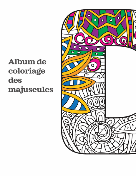 Album de coloriage Majuscules