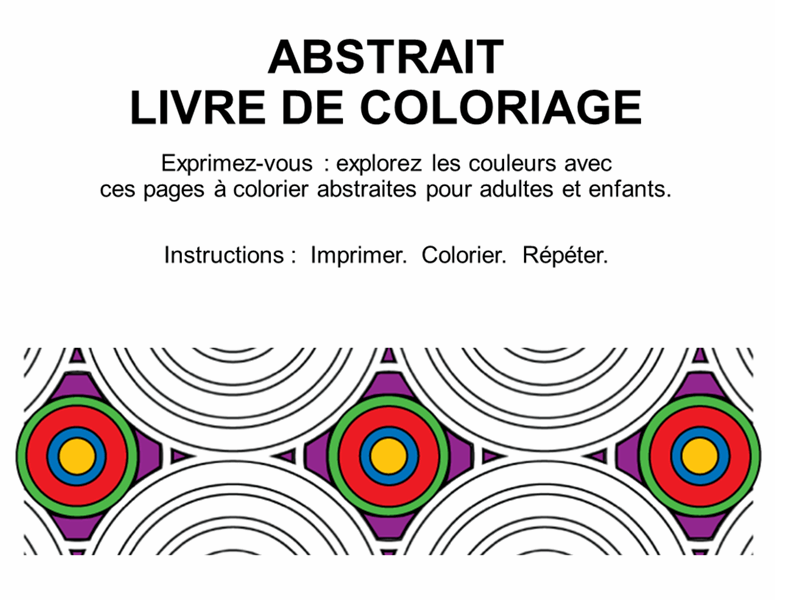 Album de coloriage Formes abstraites