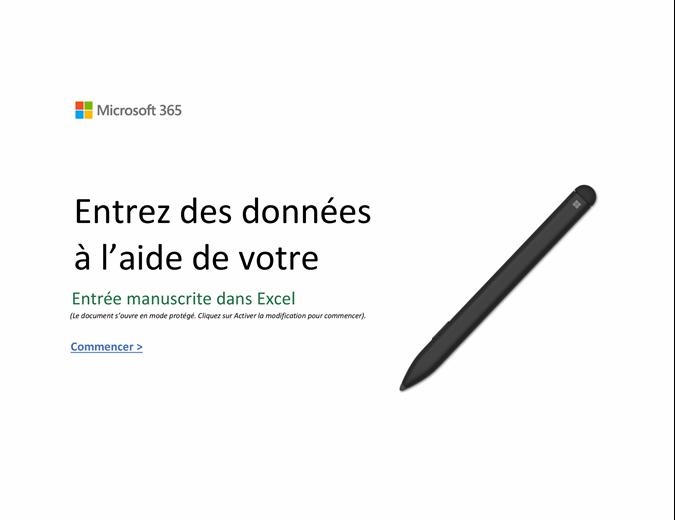 Bienvenue dans Excel