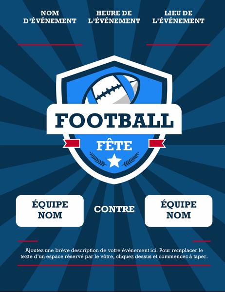 Prospectus d'événement football