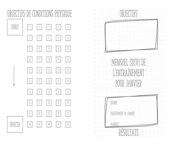 Journal de condition physique