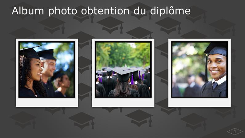 Album photo obtention du diplôme
