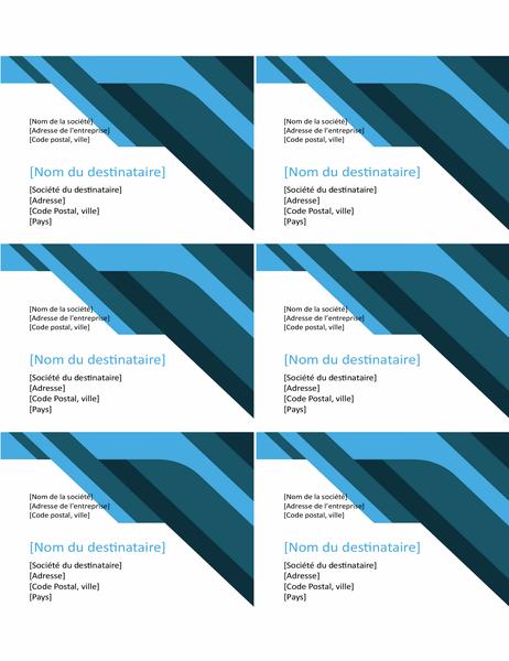 Étiquettes Angles et courbes (6 par page)