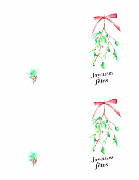 Carte de vœux sous le gui
