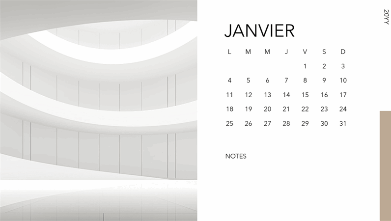 Calendrier photo Architecture