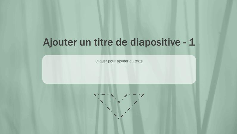 Diapositive de titre animée Herbes