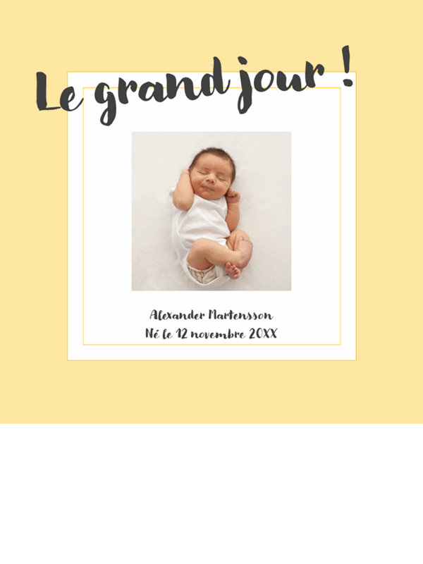Album photo des étapes de la vie du bébé