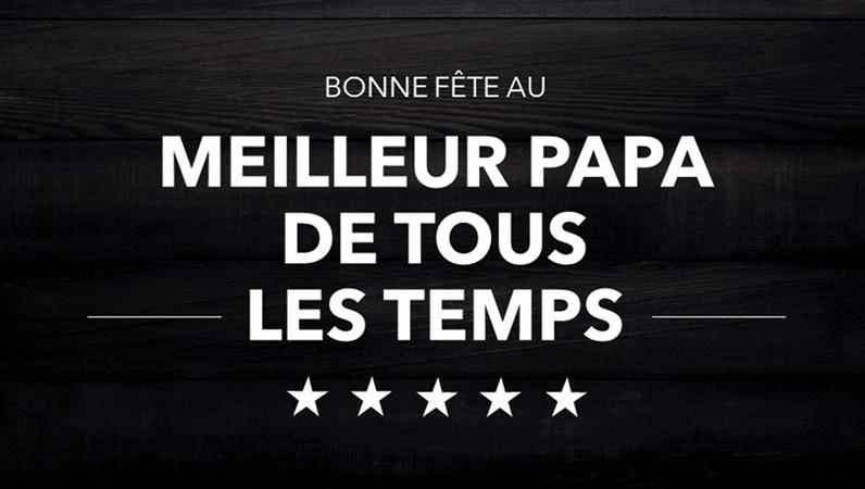 Cartes typographiques pour la Fête des pères