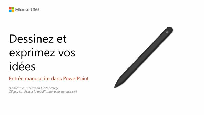 Bienvenue dans PowerPoint