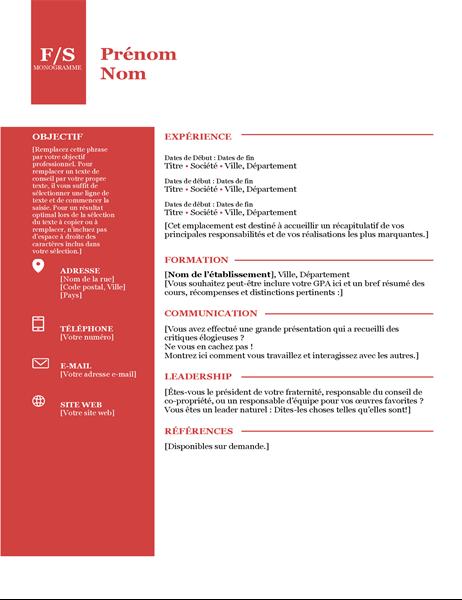 CV Monogramme gras