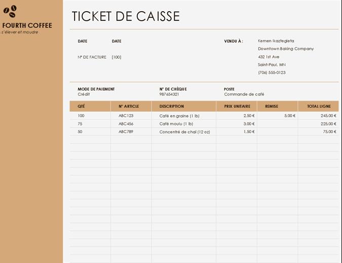Confirmation de ventes avec logo