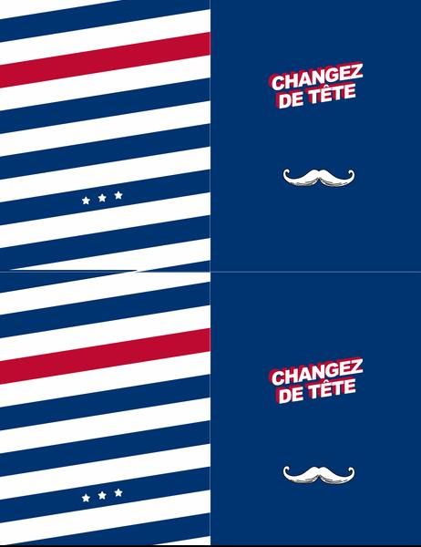 Carte de vœux Moustache rétro pour différentes occasions