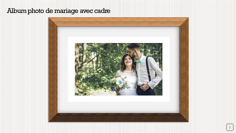 Album photo de mariage avec cadre