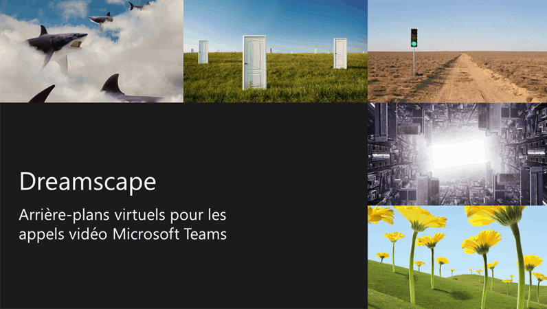Arrière-plans virtuels Teams de paysages de rêve