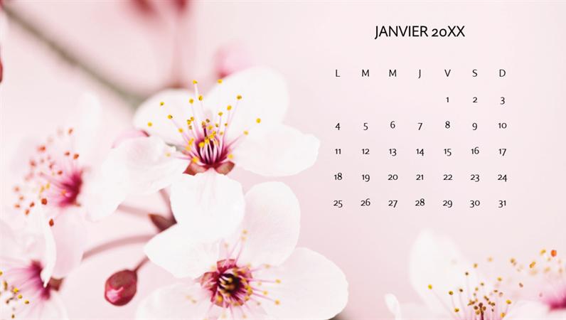 Calendrier photo de fleurs