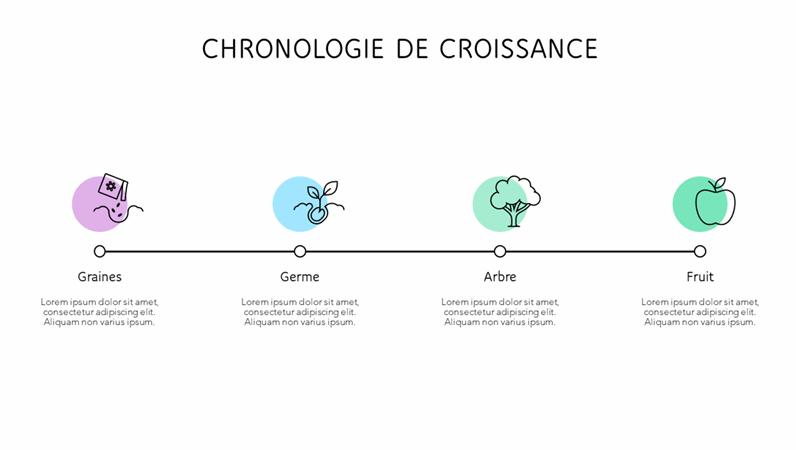Chronologie de croissance