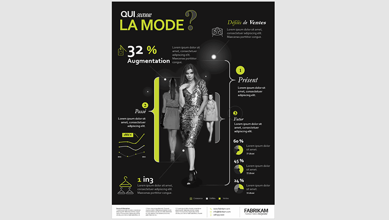 Affiche d'infographie Mode