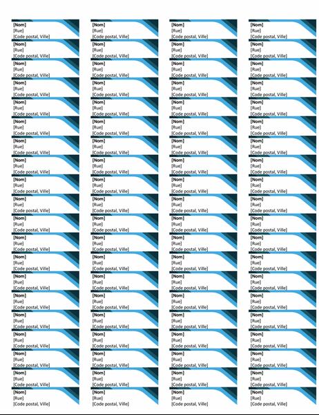 Étiquettes bleues (80 par page)