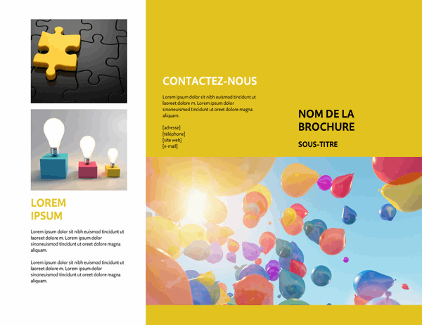 Brochure d'événement jaune