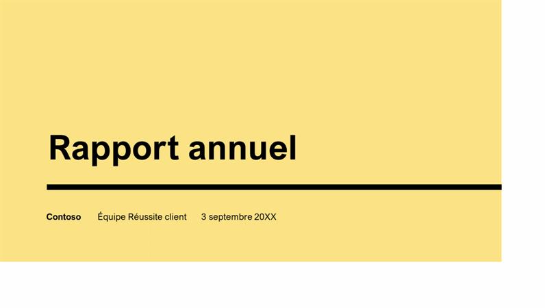 Présentation annuelle – Impact
