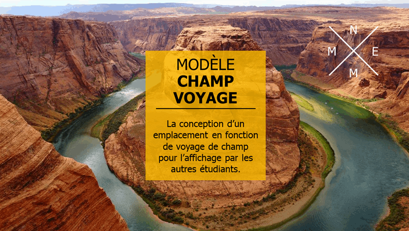 Voyage champ virtuel
